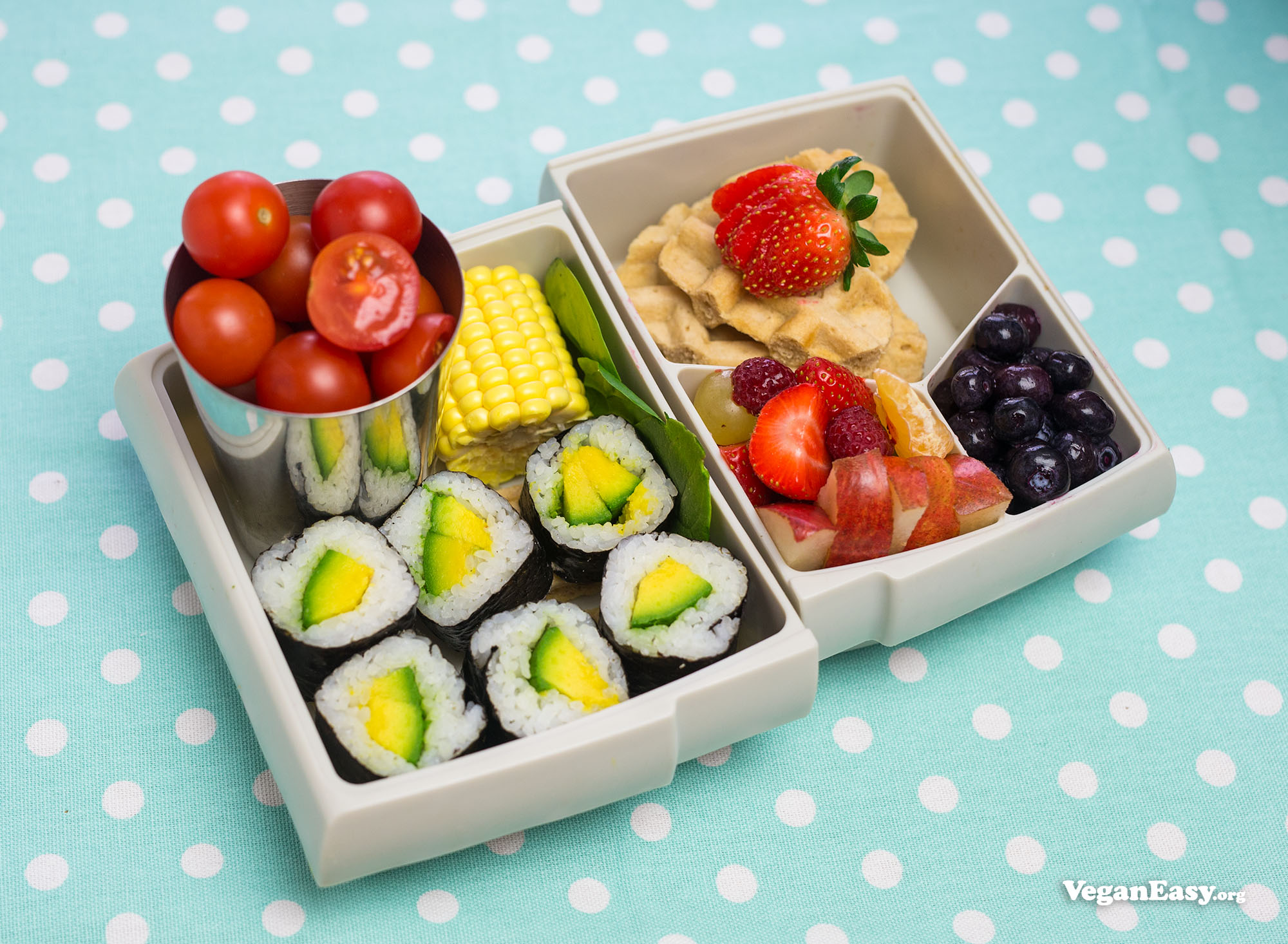 Hộp cơm trưa thuần chay đa dạng và bổ dưỡng